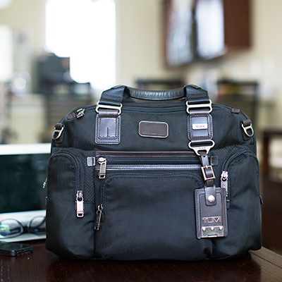 TUMI<sup>&reg;</sup> Alpha Bravo™ Brooks Slim Brief Bag - A well organized bag for all of your day to day needs, whether working or traveling.  Bag measures  11