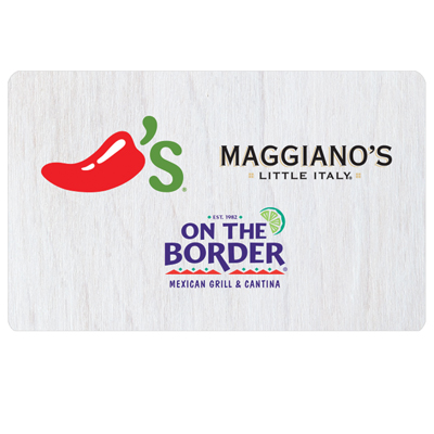 ON THE BORDER<sup>®</sup> $25 Gift Card - Try fresh Mexican favorites and specialties.
