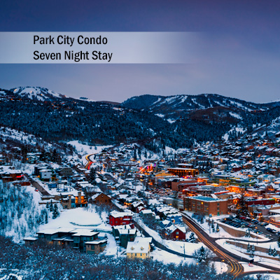 "Park City Condo 7 Night Stay - Explore Deer Valley and Park City, Utah during your 7 night stay at this amazing 3 bedroom, 3 bath condo.  Condo features include master bedroom with king bed, guest bedroom with queen bed and second guest bedroom with 2 sets of twin bunk beds.  Also includes a gorgeous stone fireplace, Sony<sup>&reg;</sup>  52"" Smart TV and fully equipped kitchen with dining for 8. Walking distance to Park City Mountain's Town Lift and historic Main Street.  Subject to availability based on request.  Airfare not included."