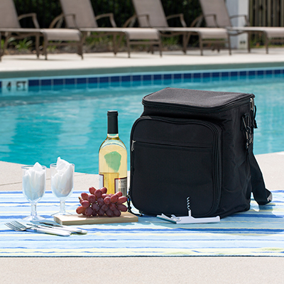 PREMIUMBAG<sup>®</sup> Picnic Cooler Set - Great for your next outdoor adventure, this cooler also includes picnic accessories.  Cooler measures 12